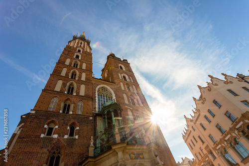 Krakow - Wawel castle at day. Krakow beautiful photo of the city in the sun