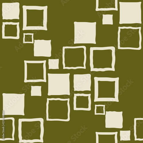 mata magnetyczna Geometric seamless pattern. Square with uneven edges