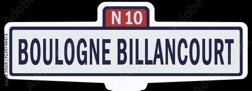 BOULOGNE BILLANCOURT - Ancien panneau entrée d'agglomération  - 239746473