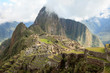 Machu Picchu in Peru, inca fortress that rises in the Peruvian Andes