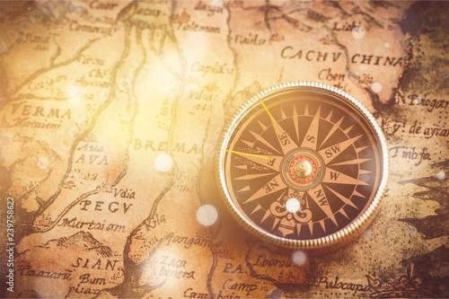 Leinwanddruck Bild Compass.