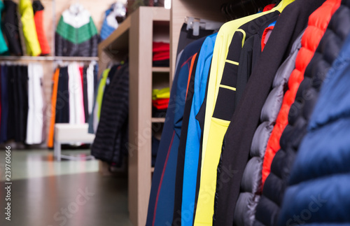 Store interior with choice of new skiwear
