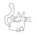 Funny cat sketch