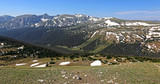 The Gore Range and the continental divide, shot just off of the Trail Ridge Road in Rocky Mountain National Park, Colorado.