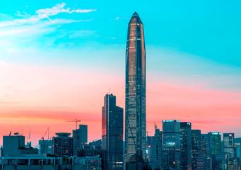 hong kong skyline at night © Lin