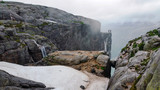 high mountains and mountaineering in the Scandinavian region kjerag © crazymedia