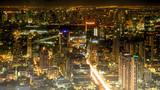 city of night.Bangkok buildings at night.cityscape,bangkok thailand