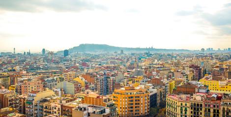 view of barcelona from sagrada familia © serhii
