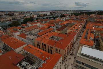 Red roofs of Zadar city © ViktoriaShu