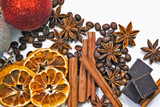 Coffee beans, spices and Christmas toys