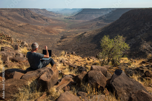 Businessman in his office, Namibia