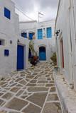 Ruelle de Lefkes, ile de Paros, Cyclades, Grèce