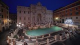 time lapse, sunrise time, Trevi Fountain in Rome, Italy  - 239903284