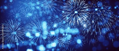 Leinwanddruck Bild Wunderschönes Feuerwerk