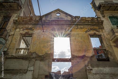 obraz PCV ruined buildings cuba