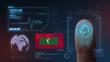 Finger Print Biometric Scanning Identification System. Maldives Nationality