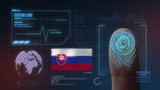 Finger Print Biometric Scanning Identification System. Slovakia Nationality