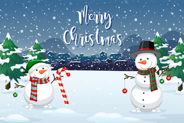A christmas outdoor background © GraphicsRF