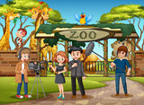 An outdoor interview at zoo - 239954022