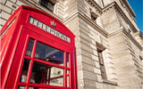 Traditional Red telephone box, Whitehall, London © pxl.store