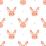 Happy bunny face pattern