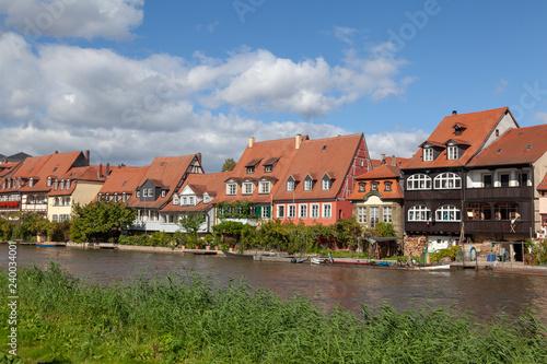 Häuser an der Regnitz, Klein Venedig, Bamberg, Deutschland