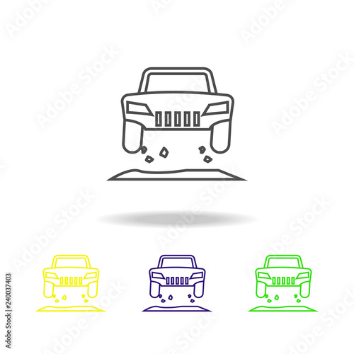 off road jump colored icon. Can be used for web, logo, mobile app, UI, UX