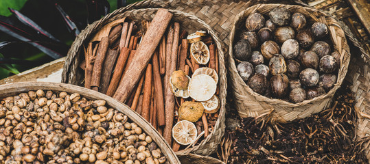 panoramic spices background © Iarygin Andrii