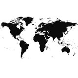 world map design illustration