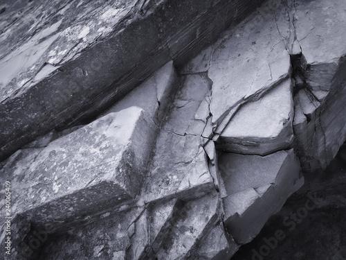 stone texture, stone background, black and white - 240065409