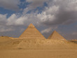 Two of the Great Pyramids Khafre and Khufu in Giza