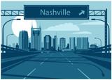 Nashvile Tennessee skyline © mauromod