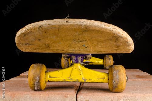 obraz lub plakat Old skateboard closeup