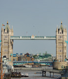 Tower Bridge, one of the symbols of London.