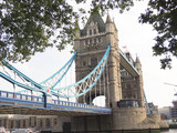 Tower Bridge, one of the symbols of London.