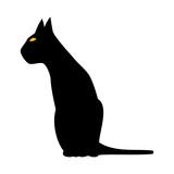 Cat Silhouette. Vector Illustration.