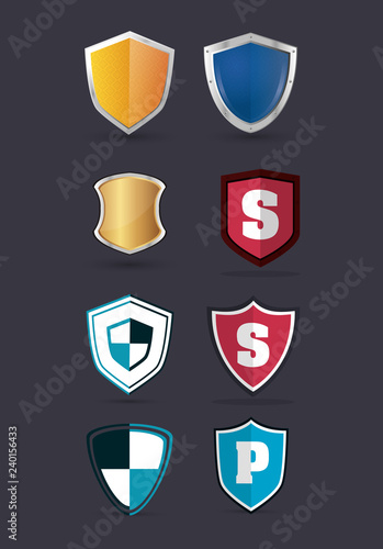 shield protection icons image  - 240156433