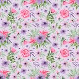watercolor hand drawn Floral Seamless pattern digital paper