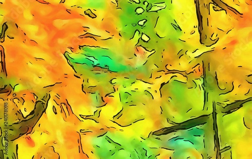 Abstract elegant watercolor background colorful juicy acrylic texture