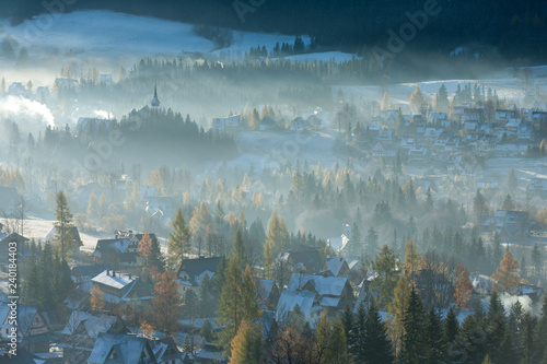 view of the Zakopane area, Tatra Mountains, Poland