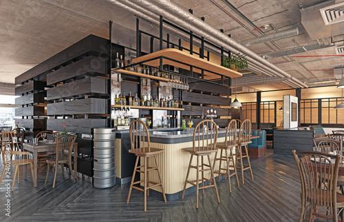 modern restaurant interior design. - 240208845