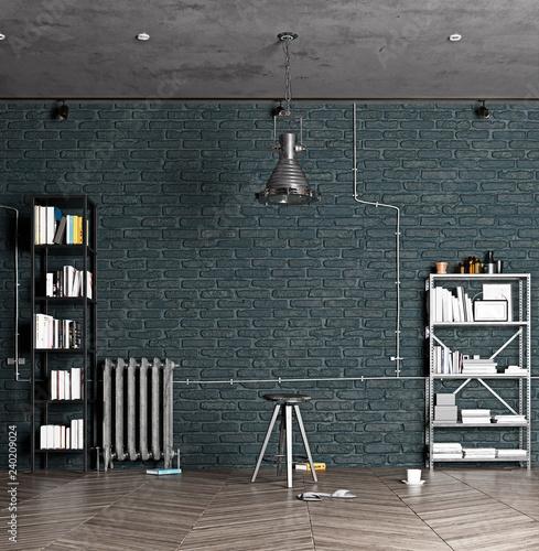 modern luxury loft interior. © victor zastol'skiy