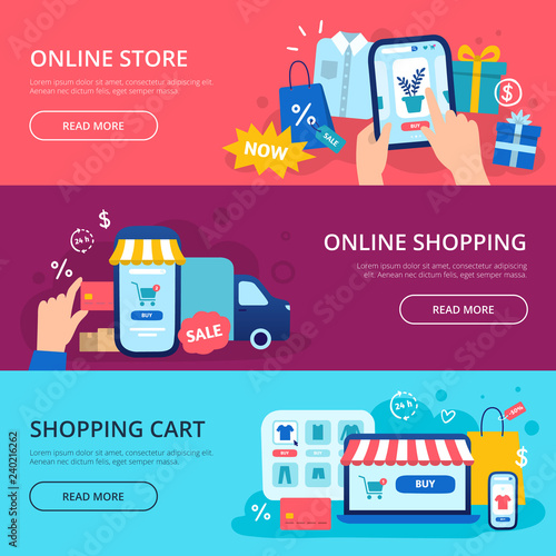 Shopping Cart Banners Tourism Banners
