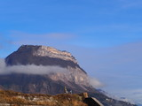 View on the Dent de Crolles in the Chartreuse mountain