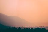 smokey skies in the mountains