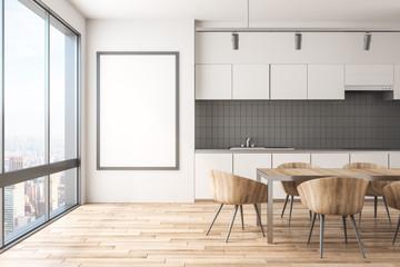 Modern kitchen interior with frame