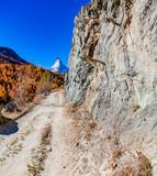Idyllic landscape wiht view of Matterhorn in Zermatt