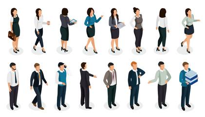 Office People Isometric Set