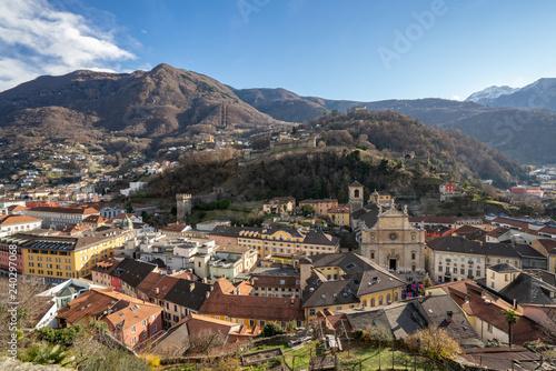 Bellinzona city in the mountains