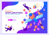Business Exploration Isometric Poster © macrovector